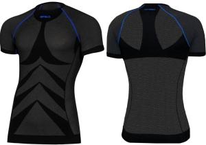 3140403ea13ff3 SPAIO Koszulka termoaktywna męska Relieve Simple (czarny/niebieski)  (W01/SP0039)