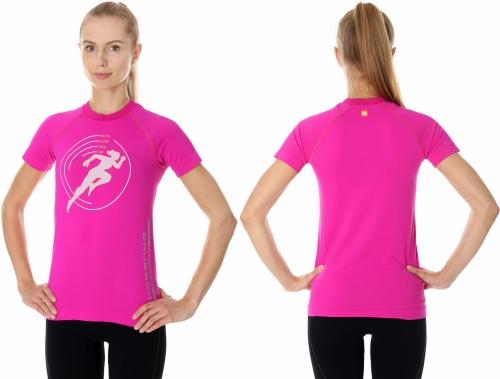 1e4ecd32dfc638 BRUBECK Koszulka termoaktywna damska RUNNING AIR PRO (różowa) (SS13270)