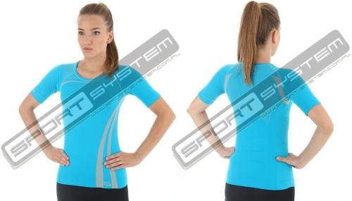 2c9366b812651e BRUBECK Koszulka termoaktywna damska Finess Inspiration (lazur) (SS10780)