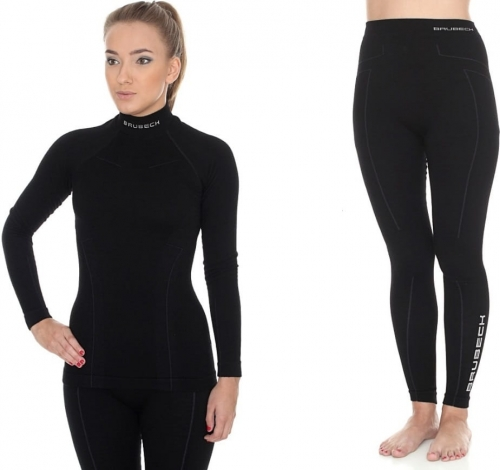 40eb44f2b BRUBECK Bielizna termoaktywna damska 1st Layer Wool Merino Ladies (czarny)  (LS11930+LE11130)