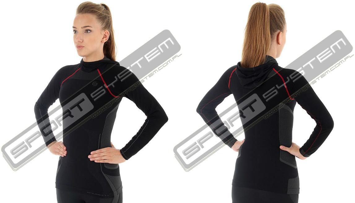 e6a3bcb4497038 Brubeck bluza termoaktywna damska z kapturem czarny (ls11360) sklep  internetowy online sport system