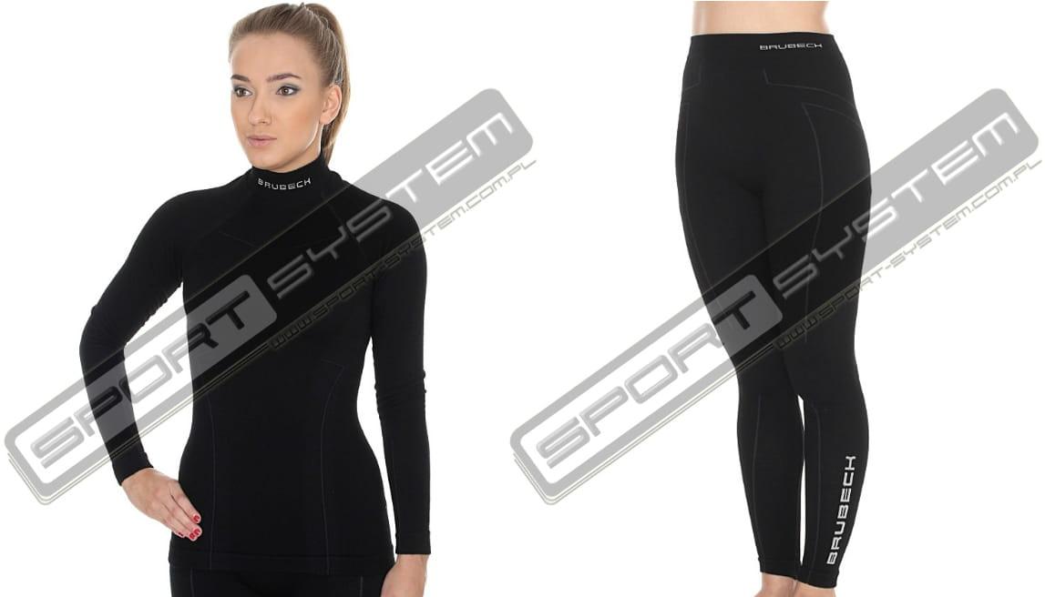 deb0cd58bd65 BRUBECK Bielizna termoaktywna damska 1st Layer Wool Merino Ladies (czarny)  (LS11930+LE11130) SPORT SYSTEM