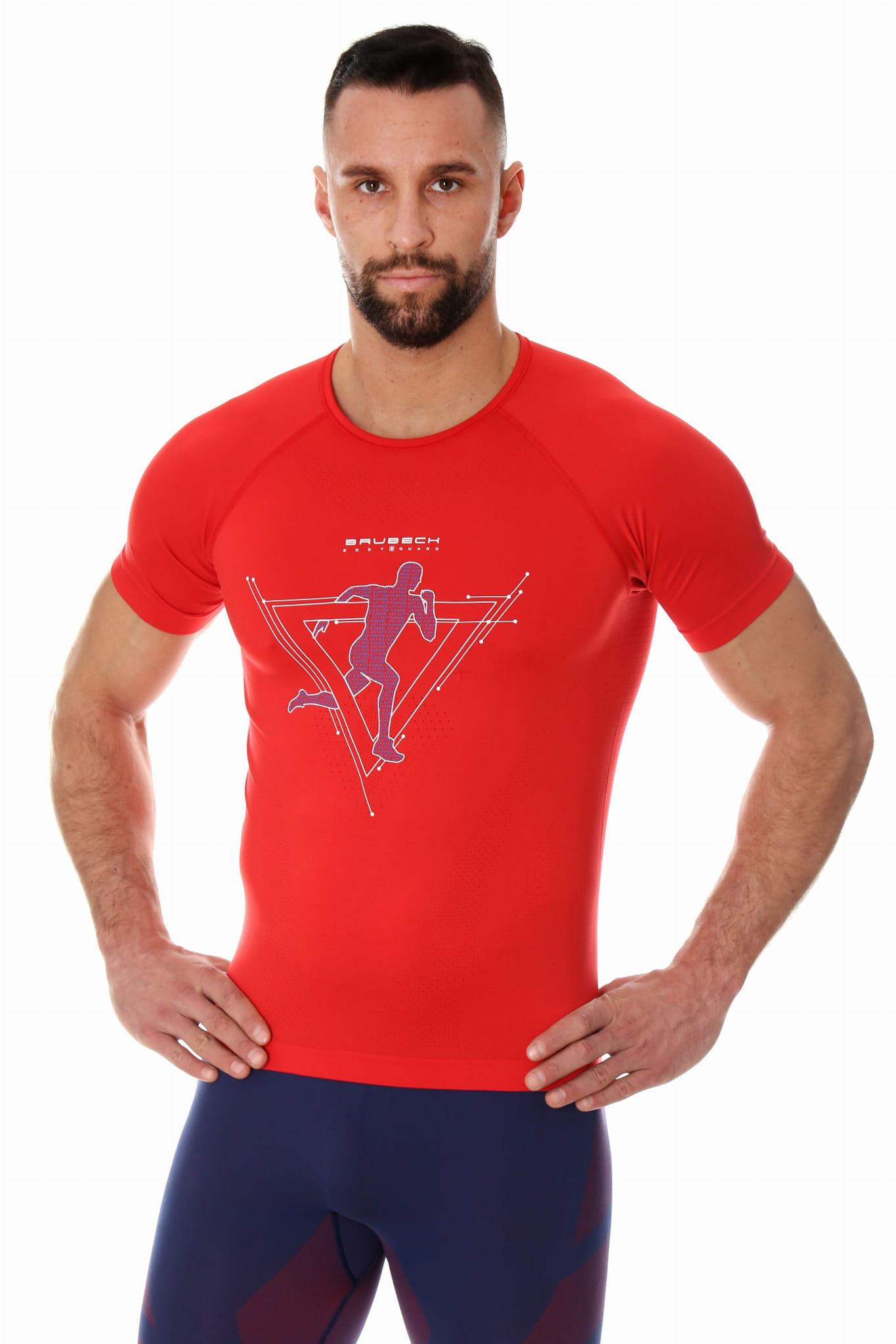 899679475c88b0 Brubeck koszulka termoaktywna męska running air pro (czerwony ...