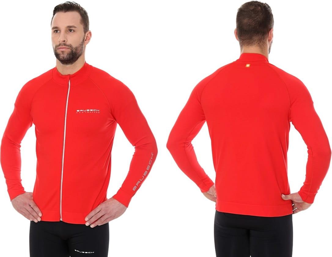 15ed8be5c13c96 Brubeck bluza termoaktywna męska athletic 2nd layer (czerwony ...